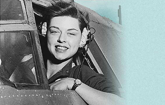 Vintage image of a woman pilot